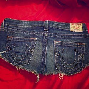 True Religion Shorts Sz 31